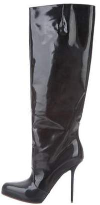 Maison Margiela Patent Leather Knee-High Boots