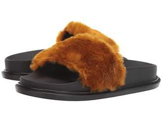 MM6 MAISON MARGIELA Contrast Faux Fur Slide Sandal