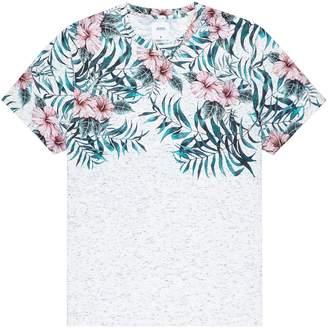 Dorothy Perkins Womens **Burton Neutral Textured Floral Print Fade T