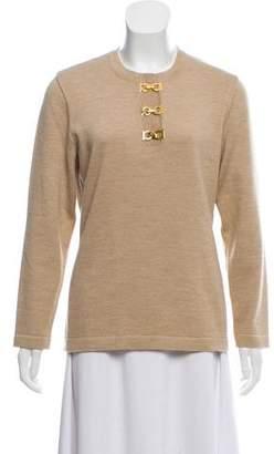 Salvatore Ferragamo Long Sleeve Crew Neck Sweater