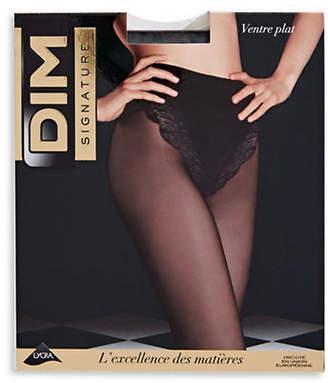 Dim Tummy Control Sheer Lace Pantyhose