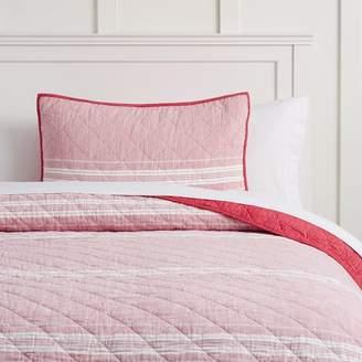 Pottery Barn Teen Windward Stripe Quilt, Twin/Twin XL, Red