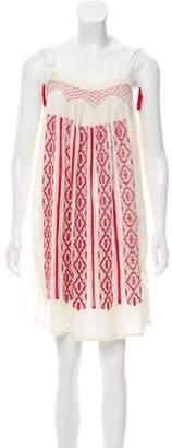 IRO Embroidered Tassel Tie Dress