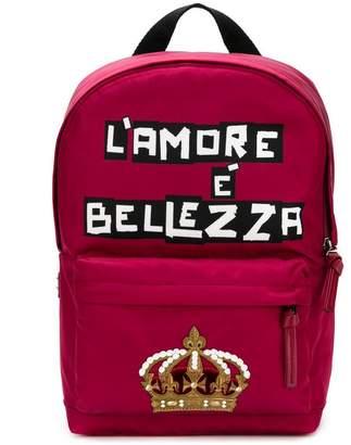 Dolce & Gabbana L'Amore È Bellezza backpack
