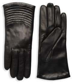 Portolano Quilted Wave Leather Gloves