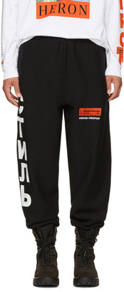 Heron Preston Black 'CTNMB' Sweatpants $325 thestylecure.com