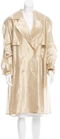 Fendi Double-Breasted Trench Coat