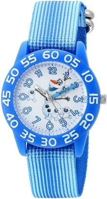 Disney Boy's 'Frozen' Quartz Plastic and Nylon Automatic Watch, Color: (Model: W002990)
