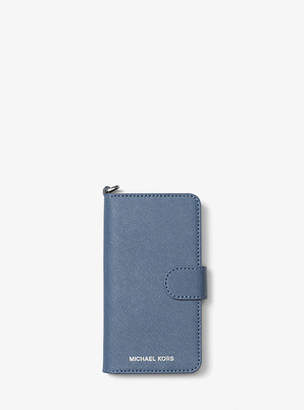 Michael Kors Saffiano Leather Folio Phone Case For Iphone7/8