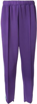 A(Lefrude)E appliqué side strip track pants