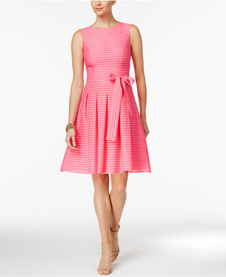 Tommy Hilfiger Illusion-Striped Fit & Flare Dress $129 thestylecure.com