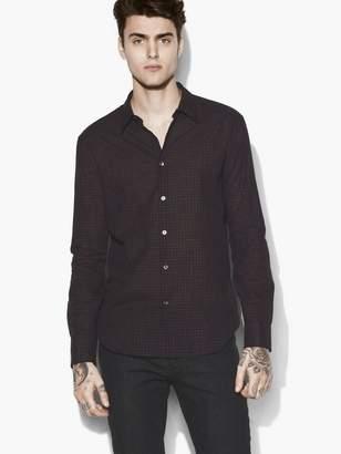 John Varvatos Tonal Check Shirt