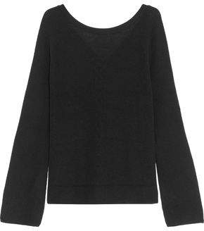 Line Paige Lace-Up Ribbed-Knit Sweater
