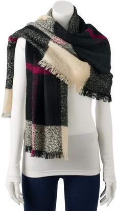 Chaps Women's Plaid Blanket Wrap Scarf