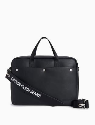 Calvin Klein logo banner laptop bag