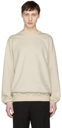 Rick Owens Beige Crewneck Sweatshirt