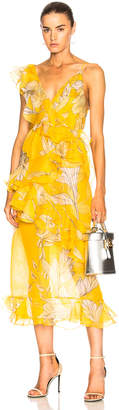 Johanna Ortiz Sunlight Silk Organza Maxi Dress