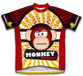 Scudo Crazy Banana Monkey Microfiber Short-Sleeved Cycling Jersey, Assorted Sizes