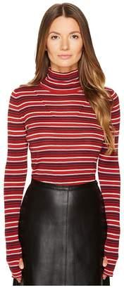 Sonia Rykiel Striped Wool Turtleneck Sweater