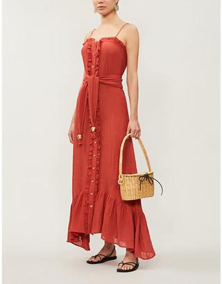 Lisa Marie Fernandez Buttoned-down belted linen-blend midi dress