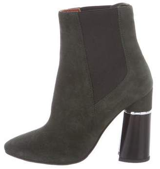 3.1 Phillip Lim Suede Pointed-Toe Ankle Boots