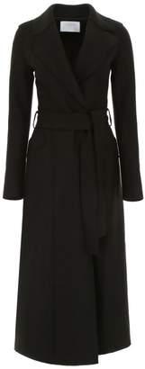 Harris Wharf London Long Coat With Belt