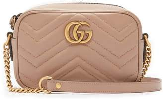 1bfe1a03a72 Gucci Gg Marmont Mini Quilted Leather Cross Body Bag - Womens - Nude
