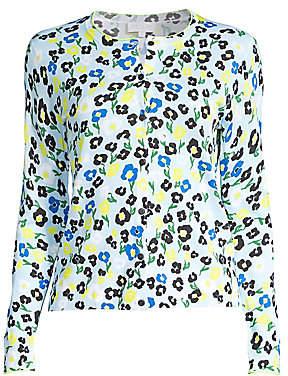 Escada Sport Women's Floral Cotton-Blend Cardigan
