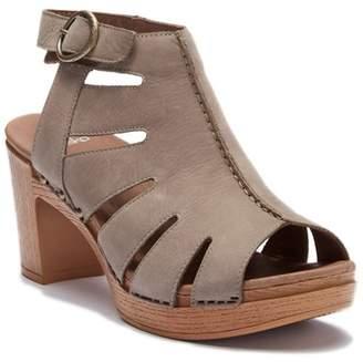 Dansko Demetra Leather Block Heel Sandal
