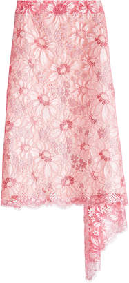 Calvin Klein Asymmetric Lace Skirt