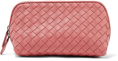 Bottega Veneta Bottega Veneta - Intrecciato Leather Cosmetics Case - Pink
