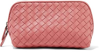 Bottega VenetaBottega Veneta - Intrecciato Leather Cosmetics Case - Pink