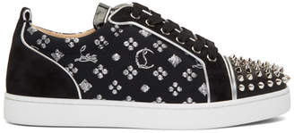 Christian Louboutin Black Louis Junior Spikes Orlato Sneakers