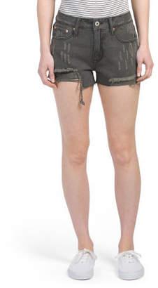 Juniors Distressed Denim Shorts