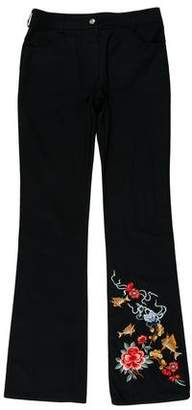 Christian Dior Embroidered Mid-Rise Pants