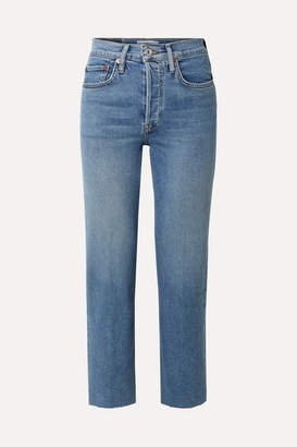 RE/DONE Originals Stove Pipe Comfort Stretch High-rise Straight-leg Jeans - Mid denim