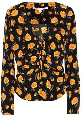 Veronica Beard Maisle printed silk blouse
