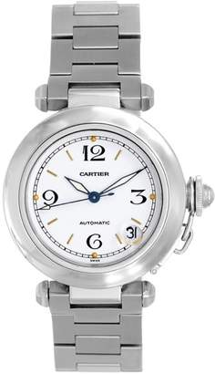 Cartier Pasha C W31074M7 Stainless Steel White Dial Automatic 35mm Unisex Watch