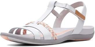 8396f0fbafdb Clarks Tealite Grace Flat Sandal Shoes - White