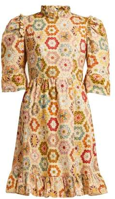 Batsheva - Kaleidoscopic Print Cotton Dress - Womens - Multi