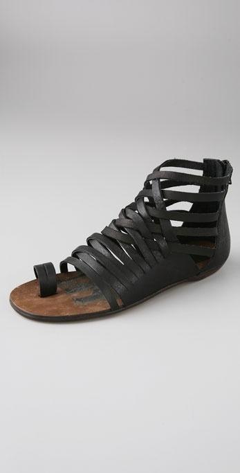 Dolce Vita Ellie Huarache Toe Ring Zip Back Sandal