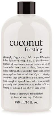 philosophy Unisex 16Oz Coconut Frosting Shampoo, Shower Gel & Bubble Bath