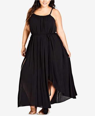 City Chic Trendy Plus Size Asymmetrical Maxi Dress