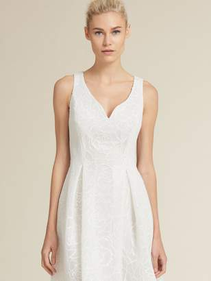 DKNY Embroidered Fit-And-Flare Dress