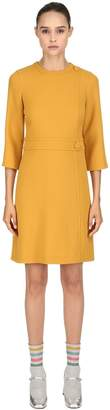 L'Autre Chose Double Wool Crepe Wrap Dress