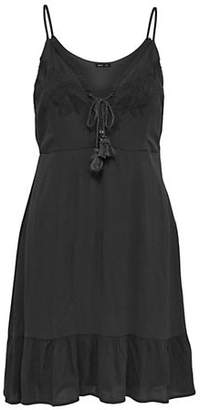 Only Sevanna Lace-Up Embroidered Day Dress