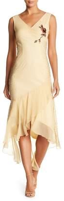 Papillon Flowy Hem Beaded Dress