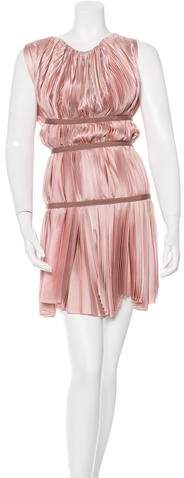 pradaPrada Pleated Mini Dress