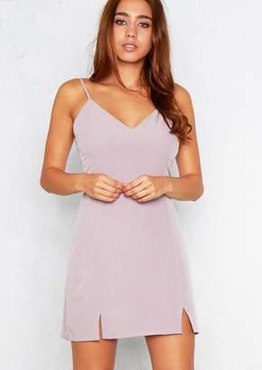 at Missy Empire · Missy Empire Missyempire Kris Lilac Cami Cut Detail Slip  Dress 19b79268e