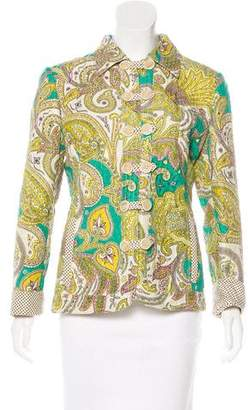 Etro Quilted Button-Up Jacket